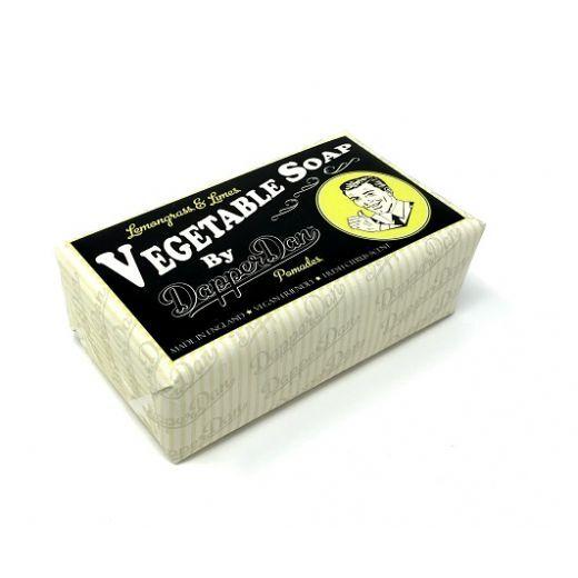 Dapper Dan Lemongrass & Limes Vegetable Soap  (Citronzāles & laima augu ziepes)