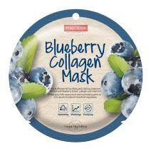 Purederm Blueberry Collagen Mask  (Melleņu kolagēna maska)