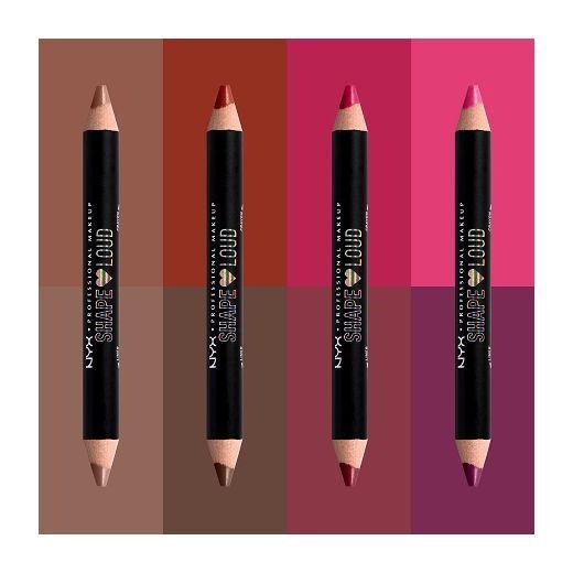 NYX Professional Makeup Shape Loud Matte Lip Duo  (Lūpu laineris)
