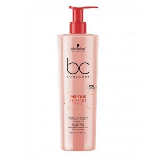 Schwarzkopf BC Bonacure Peptide Repair Rescue Micellar Shampoo (Micelārais šampūns matu atjaunošana