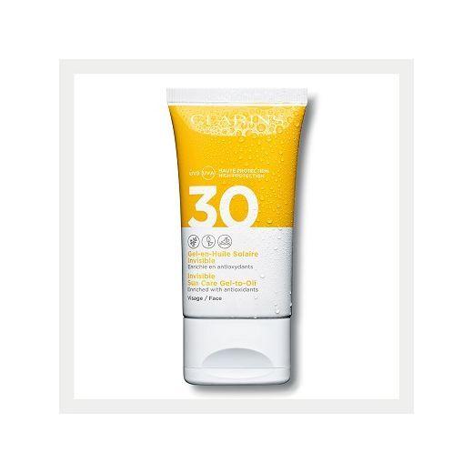 Clarins Invisible Sun Care Gel-to-Oil Face SPF 30   (Eļļas - gēla aizsargkrēms sejai SPF 30)