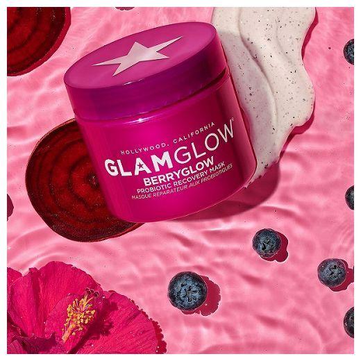 GlamGlow BerryGlow Probiotic Recovery Mask  (Mitrinoša sejas maska)