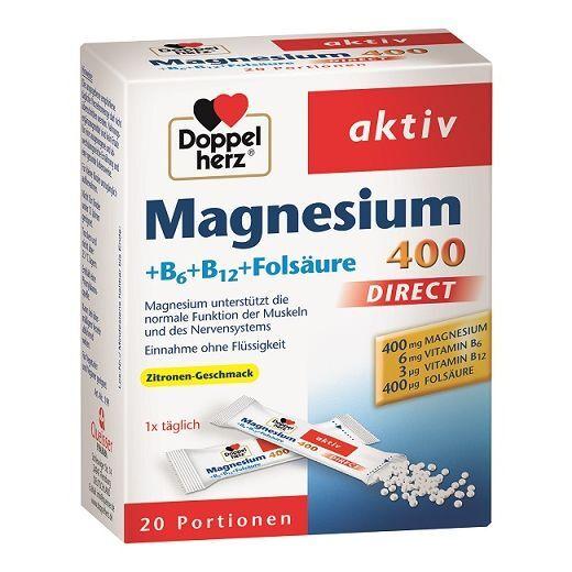 Doppelherz Aktiv Magnijs 400 + B1+B6+B12   (Sirdij, enerģijai un muskuļiem)