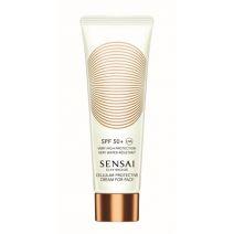 Sensai Silky Bronze Cellular Protective Cream for Face SPF 50+  (Sauļošanās aizsargkrēms sejai SPF 5