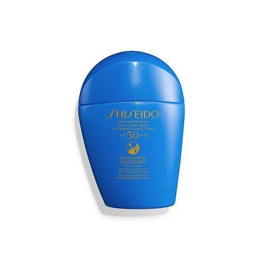 Shiseido Expert Sun Protector Lotion SPF 50+  (Saules aizsardzības losjons SPF 50+ sejai un ķermenim