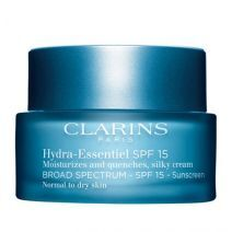 Clarins Hydra-Essentiel Silky Cream SPF 15  (Sejas krēms visiem ādas tipiem)