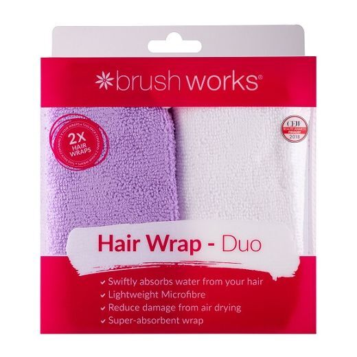 BrushWorks Hair Wrap Duo  (Mikrošķiedras dvielīši matiem)