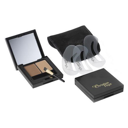 Christian Faye Semi Permanent Eyebrow Makeup Duo Kit  (Uzacu ēnu komplekts)