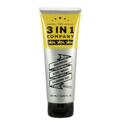 The 3 in1 Company Shampoo, Body Wash, Shaving Gel   (Šampūns, dušas želeja, skūšanās krēms vīrietim)
