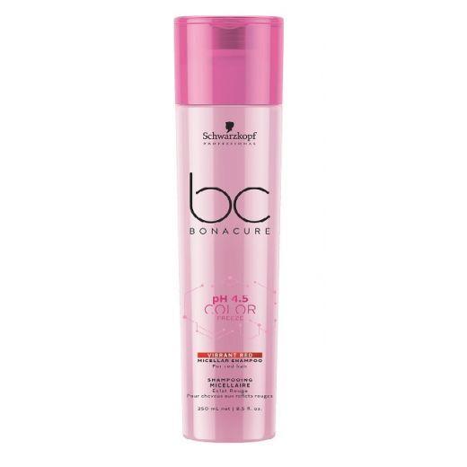 Schwarzkopf BC Bonacure pH 4.5 Color Freeze Vibrant Red Micellar Shampoo  (Spilgti sarkanais micelār