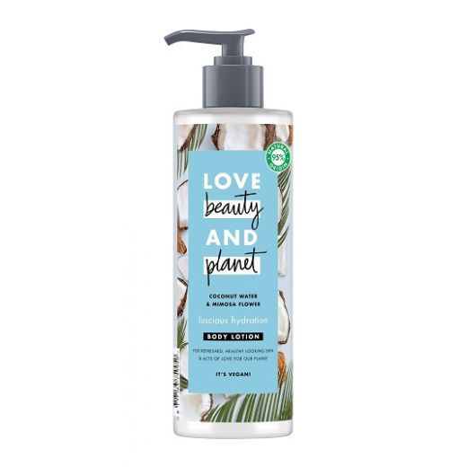 Love Beauty and Planet Coconut Water & Mimosa Flower Body Lotion  (Mitrinošs ķermeņa losjons)