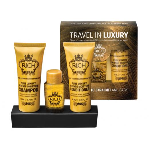 RICH Travel In Luxury Set  (Intensīvi mitrinošu matu produktu komplekts)