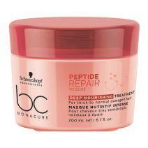 Schwarzkopf BC Bonacure Peptide Repair Rescue Deep Nourishing Treatment  (Dziļi barojoša maska matu