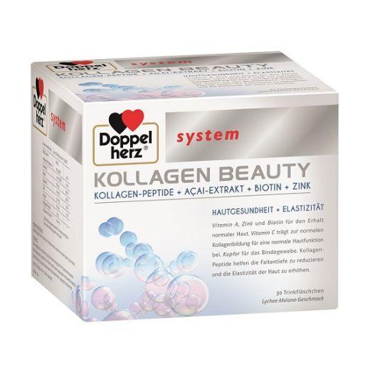 Doppelherz System Collagen Beauty  (Uztura bagātinātājs ādas veselībai un elastībai)