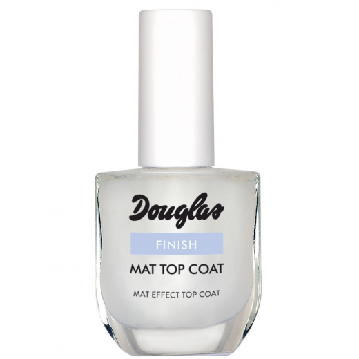 Douglas Nail Care Finish Mat Top Coat 10 ml  (Matējošs nagu lakas pārklājums)