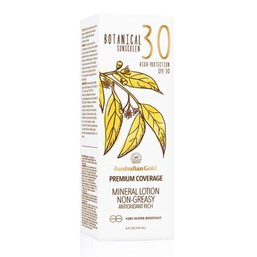 Australian Gold Botanical Sunscreen SPF 30 Mineral Lotion   (Saules aizsargkrēms SPF 30)