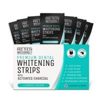 Pro Teeth Whitening Premium Dental Whitening Strips With Activated Charcoal  (Augstas kvalitātes zob
