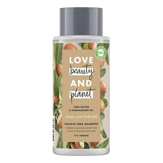 Love Beauty and Planet Shea Butter and Sandalwood Oil Shampoo  (Mitrinošs šampūns matiem)