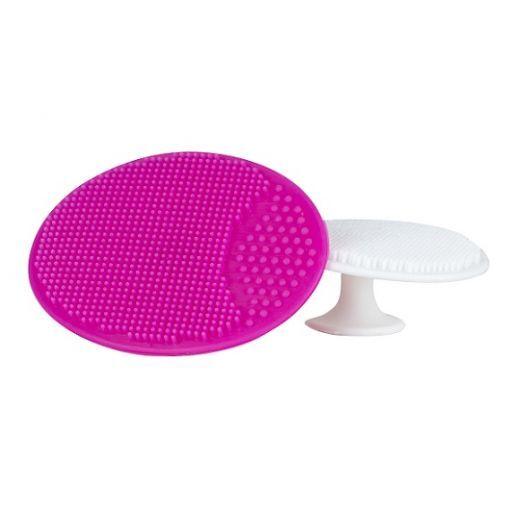 BrushWorks Facial Cleansing Pads Duo  (Augstas kvalitātes silikona sūklīši sejas mazgāšanai)