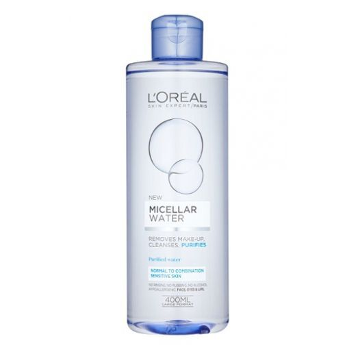 L'Oreal Paris Micellar Water for Normal to Combination Skin  (Micelārais ūdens)