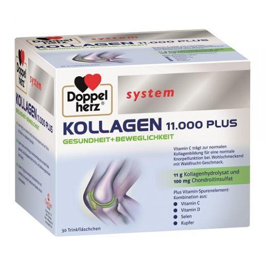Doppelherz System Collagen 11.000 Plus  (Uztura bagātinātājs kaulu veselībai un muskuļu darbībai)