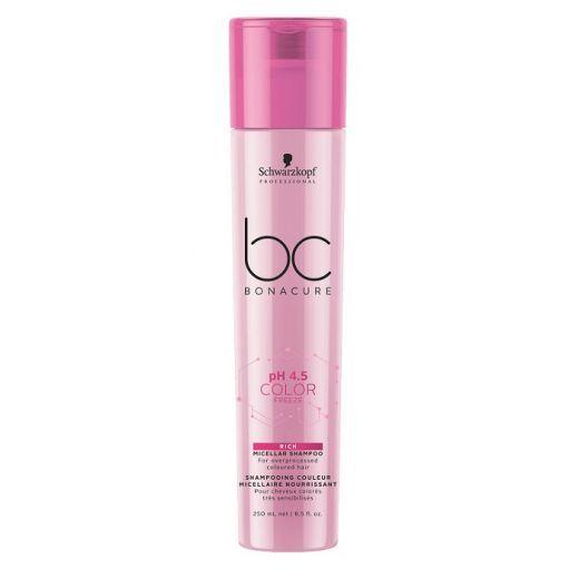Schwarzkopf Professional BC Bonacure pH 4.5 Color Freeze Rich Micellar Shampoo  (Bagātinošs micelāra