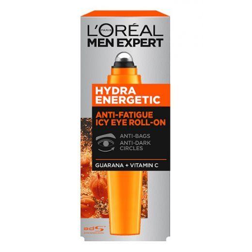 L'Oreal Paris Men Expert Hydra Energetic Anti-Fatigue Icy  Roll-On Eye Cream  (Acu krēms vīriet