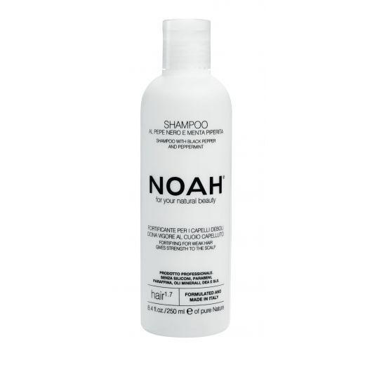 NOAH Shampoo With Black Pepper And Peppermint  (Šampūns novājinātiem matiem)