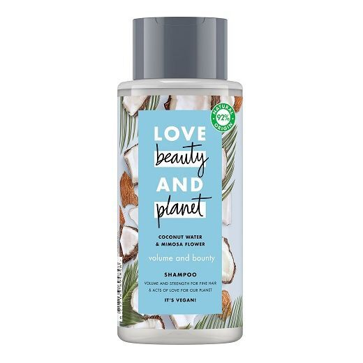 Love Beauty and Planet Coconut Water & Mimosa Flower Shampoo  (Šampūns matu kuplumam)