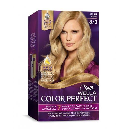 Wella Color Perfect 8/0 Blonde  (Matu krāsa)