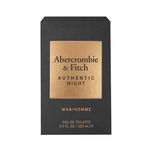 Abercrombie & Fitch Authentic Night Men  (Tualetes ūdens vīrietim)
