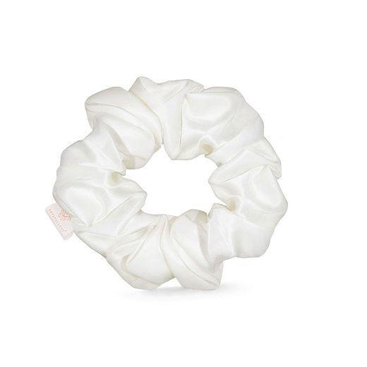 Crystallove Silk Scrunchie - Ivory  (Zīda matu gumija – ivory)