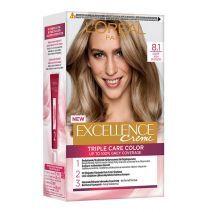 L'Oreal Paris Excellence Hair Color 8.1 Light Ash Blond  (Matu krāsa)