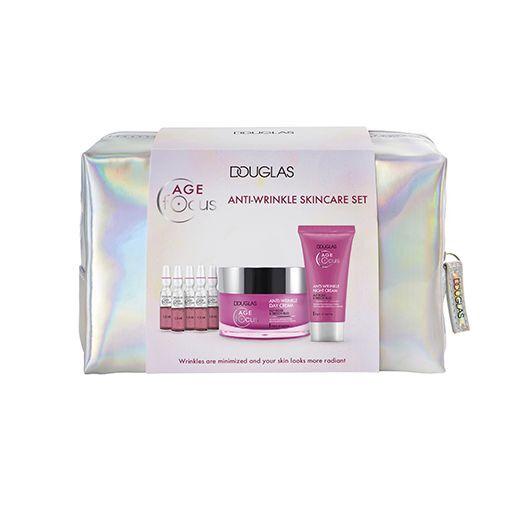 Douglas Focus Age Focus Anti-Wrinkle Skincare Set  (Pretgrumbu sejas kopšanas komplekts)