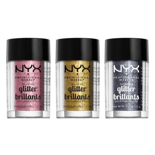 NYX Face & Body Glitter   (Spīdīgs pigments sejai un ķermenim)