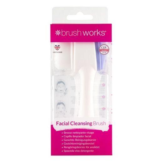 BrushWorks Facial Cleansing Brush  (Duālā sejas tīrīšanas birste)
