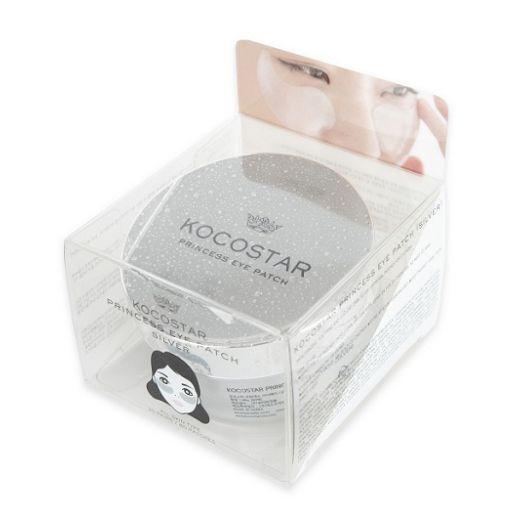 Kocostar Princess Eye Patch Silver   (Izlīdzinoša un mitrinoša hidrogēla maska acu zonai)