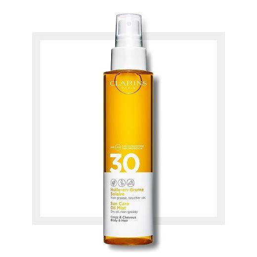 Clarins Sun Care Body Oil Mist SPF 30  (Eļļa saules aizsardzībai ķermenim SPF 30)